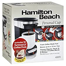 Hamilton Beach Personal Cup Pod Brewer, 1 Cup, 1 coffeemaker