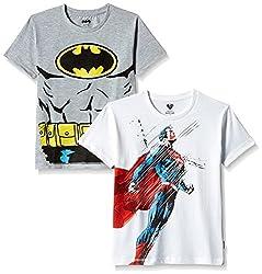 Kidsville Boys' T-Shirt (BM1KB07_Multicolor_7 - 8 years) (Combo T-shirt's -2)
