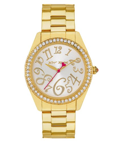 Betsey Johnson Gold Bling Time Boyfriend Watch