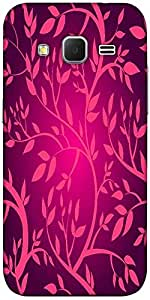 Snoogg Vector Seamless Pattern With Pink Branches Designer Protective Back Ca...