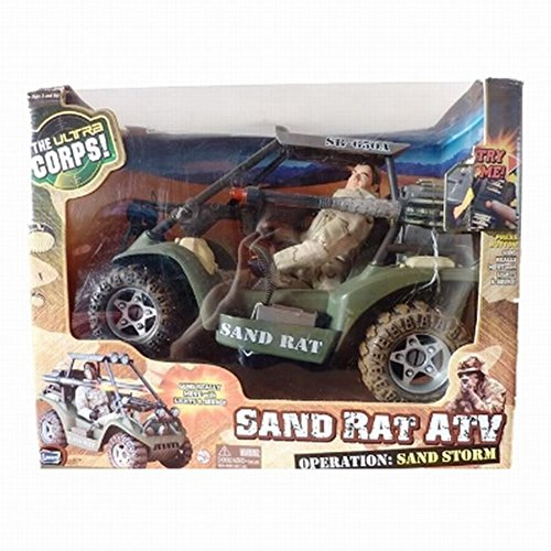 Ultra Corps Sand Rat ATV Vehicle & Action Figure Set Guns With Lights and Sound