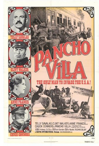 Pancho Villa Film Poster Starring Telly Savalas and Clint Walker