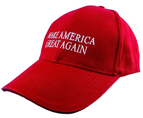 Make America Great Again Donald Trump ricamato Sandwich Cappello Red (Sandwich Hat) Taglia unica