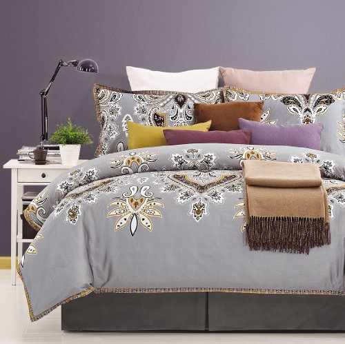 300 Thread Count Cotton Garden Duvet Cover Set - King/California King front-859665