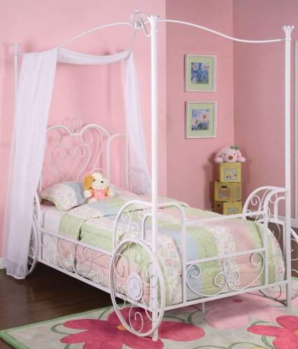 Princess Emily Carriage Canopy Twin Size Bed front-5963