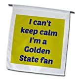 Jacob Ariel sport quotes - I cant keep calm Im a Golden state fan, blue, gold - Flags - 12 x 18 inch Garden Flag at Amazon.com