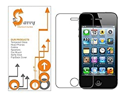 SAVVY Tempered Glass Guard for Apple iphone4, Apple iphone 4s