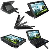 """igadgitz 'Guardian' Noir Étui Housse en Cuir PU pour Asus Eee Pad Transformer Prime & Dock Clavier TF300 TF300T 10.1"""" Android Tablet"""