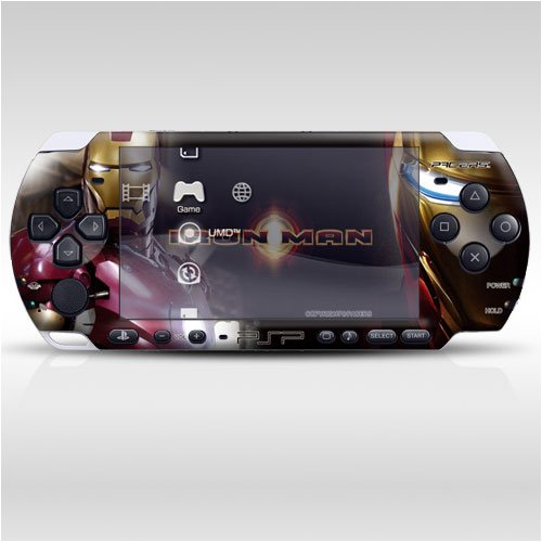 Iron Man Decorative Protector Skin Decal Sticker for PSP-3000, Item No.0858-66