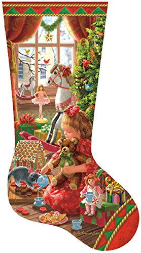 A Girl's Stocking Shaped 800 Piece Jigsaw Puzzle by Sunsout Inc.