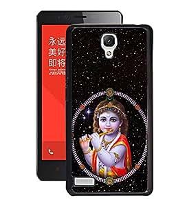 Crazymonk Premium Digital Printed 3D Back Cover For Xiaomi Redmi Note