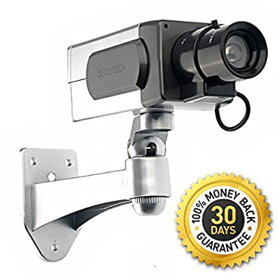 "Blindspotter Motion Detector Dummy Camera - Best Inexpensive Alternative / Supplement For Security - Includes E-book ""How to Improve Your Home Security"" - Decoy Security Camera - Fake Security Signs Included - Motorized Panning Movement With Motion Sensor"