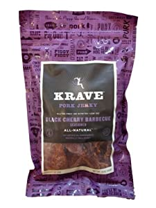 Krave Black Cherry BBQ Pork Jerky (LARGE 16-Ounce Value Bag)
