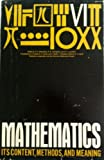 img - for Mathematics: Its Content, Methods, and Meaning. 3 volumes complete. book / textbook / text book