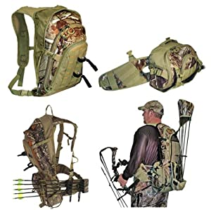 GamePlan Gear Over-N-Under 3-in-1 Pack System, Realtree AP by GamePlan Gear