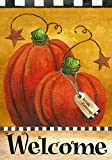 Pumpkin Autumn Welcome Primitive Fall Garden Flag