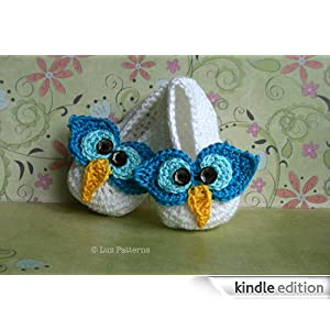 Crochet Owl Baby Booties Pattern : Crochet book, baby owl boots crochet pattern, baby booties ...