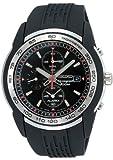 [セイコー]SEIKO 腕時計 セイコー クロノグラフ ブラック文字盤 正規保証書付き SNAC01JC メンズ 【逆輸入品】