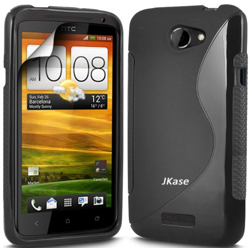 Jkase Premium Quality Ultra Slim Streamline Series Tpu Protective Case Cover - Retail Packaging (Htc One S, Black)