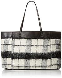L.A.M.B. Halena Flannel Tote Shoulder Bag