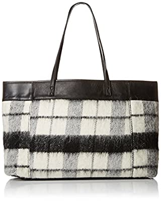 L.A.M.B. Halena Flannel Tote Shoulder Bag