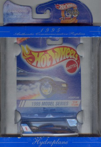 Hot Wheels 30 years AUTHENTIC COMMEMORATIVE REPLICA limited edition 1995 MODEL SERIES 6 of 12 blue HYDROPLANE 1:64 Scale Die-cast Collectible Car 1:64 Scale - 1
