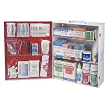 Medique 745M1 3-Shelf Industrial Side-Opening First Aid Cabinet, Filled