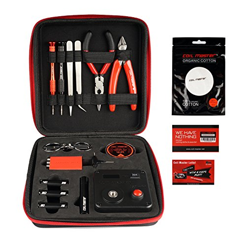 Coil Master DIY KIT V3 Tool SET with Latest Coil Jig (V4) / 521 Tab Mini ohm reader / Tweezers / Heat Resistant Wire Newest Tool Kit