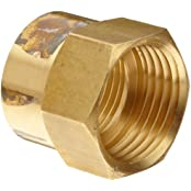 "Anderson Metals Brass Garden Hose Fitting, Connector, 3/4"" Female Hose ID X 1/2"" Female Pipe"