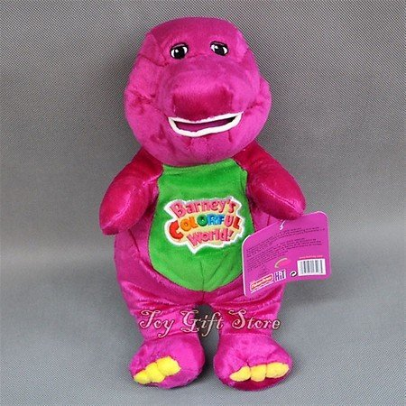 "Best Pal Barney the Dinosaur 12"" Plush Musical Singing Colorful World Doll"