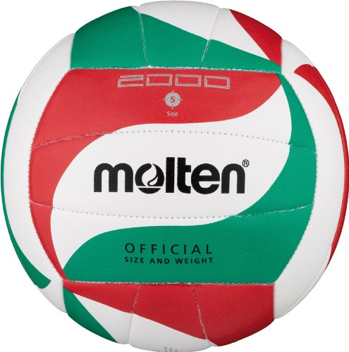 Molten Volleyball V5M2000, Weiß/Grün/Rot, 5