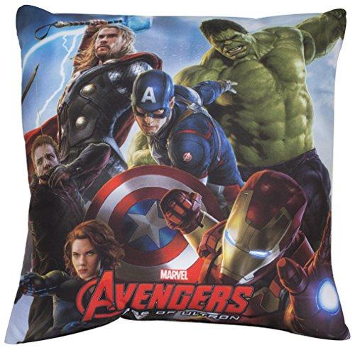 Disney Marvel Avengers ultrol Cuscino quadrato, poliestere, multicolore