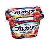 【冷蔵】【12個】ブルガリアヨーグルト脂肪0 芳醇いちご 180g 明治