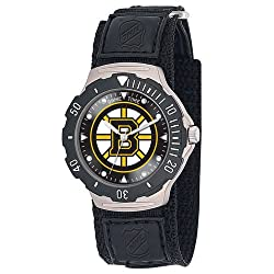 Game Time Unisex NHL-AGV-BOS Boston Bruins Agent Velcro Series Watch
