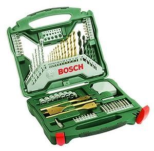 Bosch 70-teiliges X-Line Titanium-Set für Holz, Stein, Metall, 2607019329