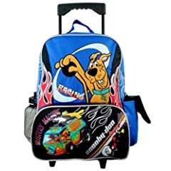 Scooby Doo Large Rolling Luggage Backpack - Mystery Machine