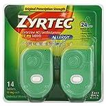 Zyrtec Allergy, Original Prescription Strength, 10 mg, Tablets, 14 tablets