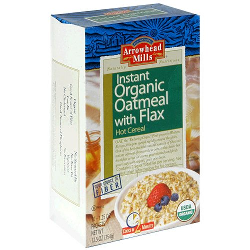 Arrowhead Mills Organic Instant Oatmeal  With Flax Hot Cereal