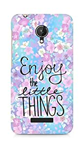 AMEZ enjoy the little things Back Cover For Micromax Canvas Spark Q380