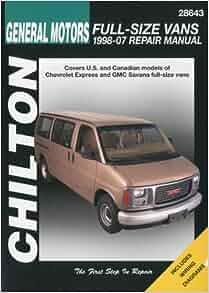 chilton 39 s general motors chevrolet express gmc savana. Black Bedroom Furniture Sets. Home Design Ideas