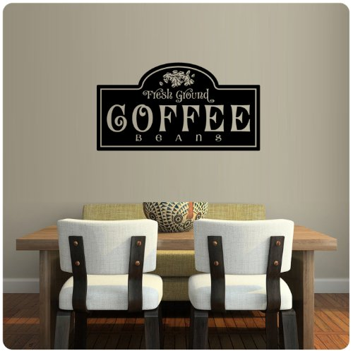 Fresh Ground Coffee Beans Wall Decal Sticker Art Mural Home Décor Quote