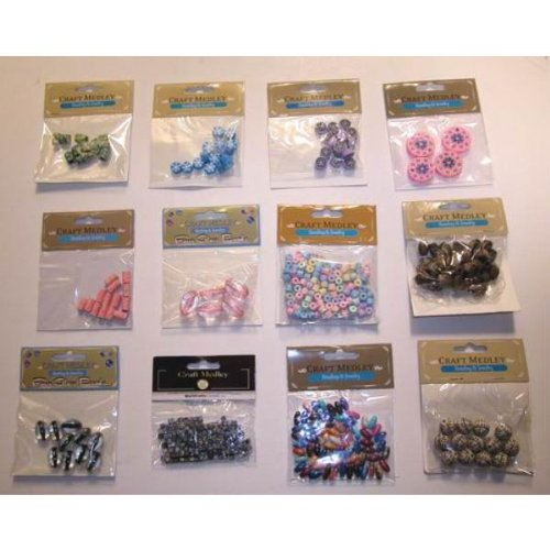 Assorted Craft Beads for Beading & Jewelry Case Pack 144 - 680330