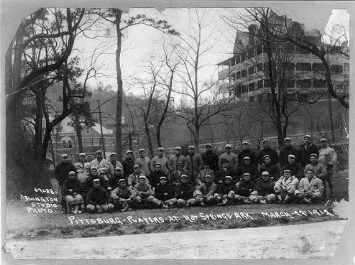 Photo: Pittsburg baseball team posed,Hot Springs,Arkansas,AR,Army & Navy Hospital,1912