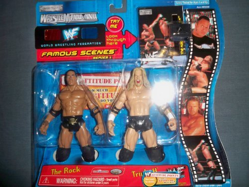 The Rock and Triple H 2-Pack Famous Scenes Series 1 WrestleMania XVII
