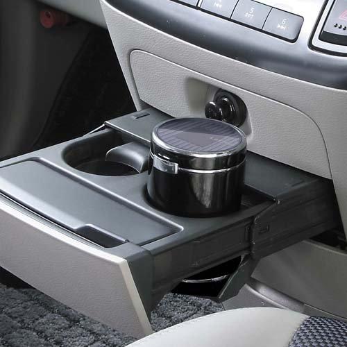 ナポレックス 車用 灰皿 センサーイルミアッシュ ドリンクホルダー型 ブラック LED付き Fizz-818