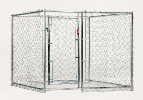 Lucky Dog 5-Feet L by 5-Feet W by 4-Feet H Chain-link Kennel