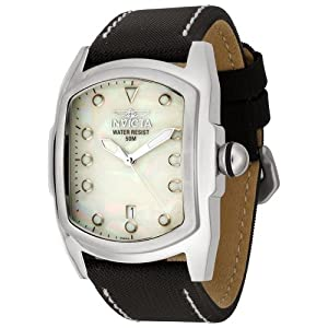 Invicta Men's 0012/BLACK Lupah Collection Black Fabric Strap Watch