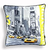 Nava New Yellow Modern Us New York Taxi Photo Decorative Pillow Case Cushion Cover