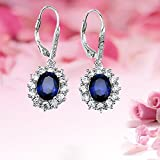 YAXING-925-Sterling-Silver-Snowflake-Flower-Blue-Sapphire-White-Cz-Leverback-Dangle-Earring