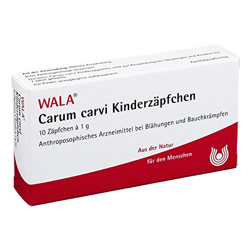 Carum carvi Kinderzäpfchen, 10X1 g